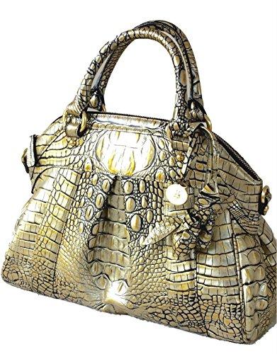 Brahmin Louise Rose Filigree Lady Melbourne Satchel Bag