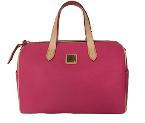 Dooney & Bourke Carley Olivia Satchel Hot Pink En893 HP Coated Canvas