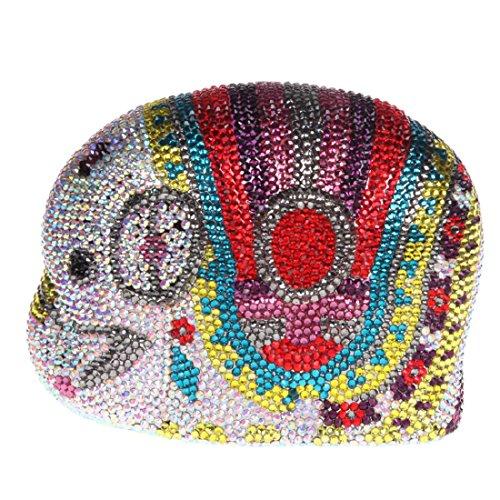 Elephant Crystal Clutch Women Evening Clutches Mini Purse Multicolor