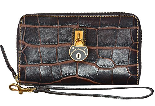 Dooney & Bourke Campbell Zip Around Phone Wristlet Bag Purse