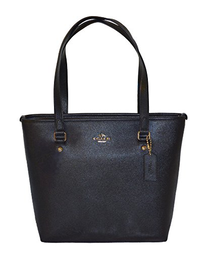 Coach Crossgrain Leather Zip Top Tote