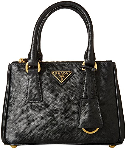 Prada Women's Leather Shoulder Bag, Black, One Size