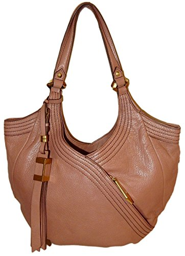 orYANY Tracy Medium Hobo Shoulder Bag Almond Leather