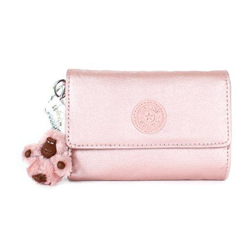 Kipling Pixi GM Medium Wallet, Icy Rose Metallic