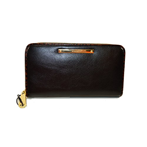 Brahmin Suri Black Tuscan Tri-texture Leather clutch wallet