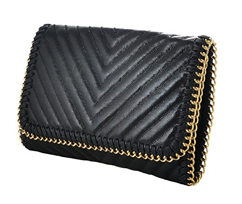 Chic Baby Quilted Shimmer Leather Bag