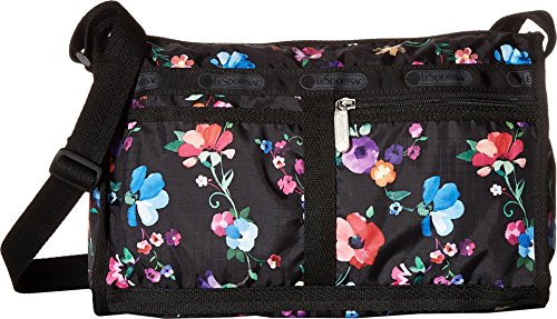 LeSportsac Classics Deluxe Shoulder Satchel (Impressionist Flower)