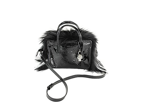 Alexander Mcqueen Womens Classic Chain Clutch Shoulder Bag – Black Leather