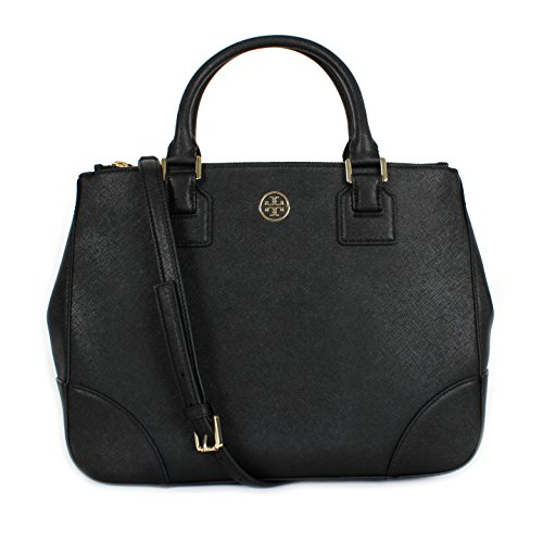 Tory Burch Robinson Double Zip Tote Black