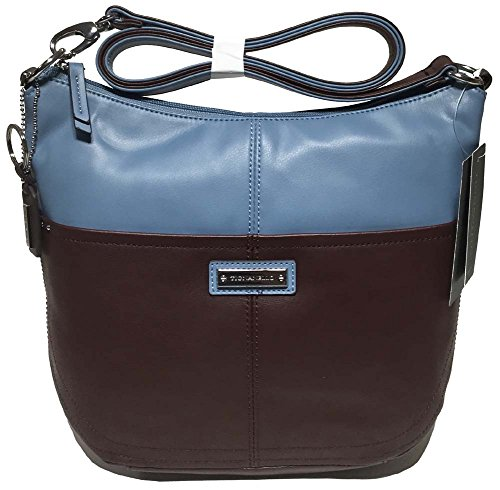 Tignanello Bucket Convertible Cross Body, Raisin/Sky, T15043A