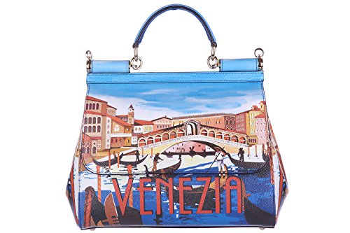 Dolce&Gabbana women's leather handbag shopping bag purse sicily dauphine venezia