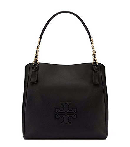 Tory Burch Harper Center Zip Tote, Black