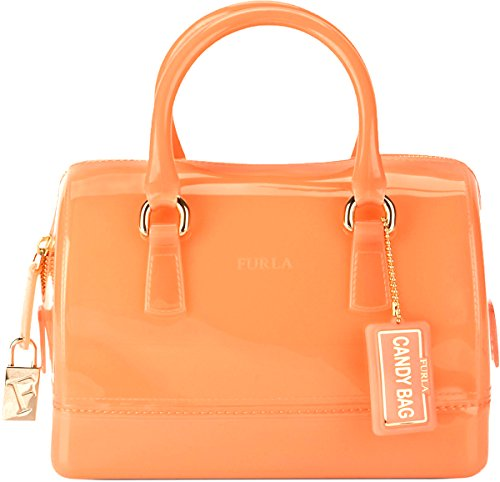 Furla Candy Bauletto Satchel Belletto Peach