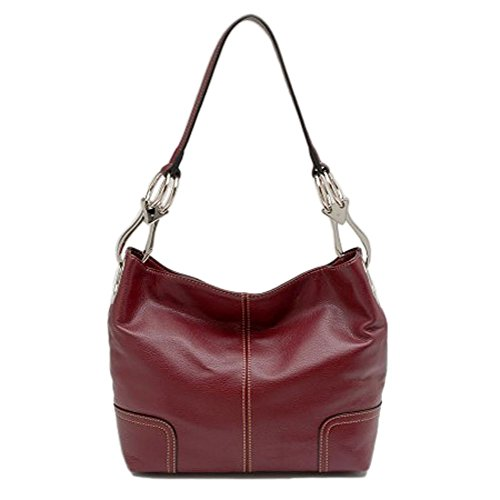 Tosca Classic Medium Shoulder Handbag (Burgundy)