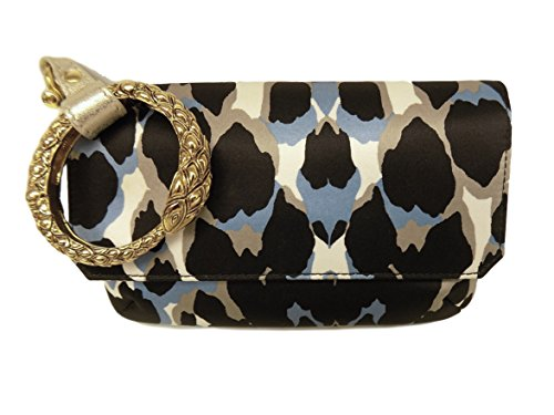 Roberto Cavalli Women's Wristlet Clutch Multicolor Satin Wallet