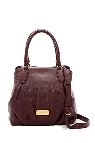 Marc by Marc Jacobs New Q Fran Large Shoulder Bag in Red Wine
