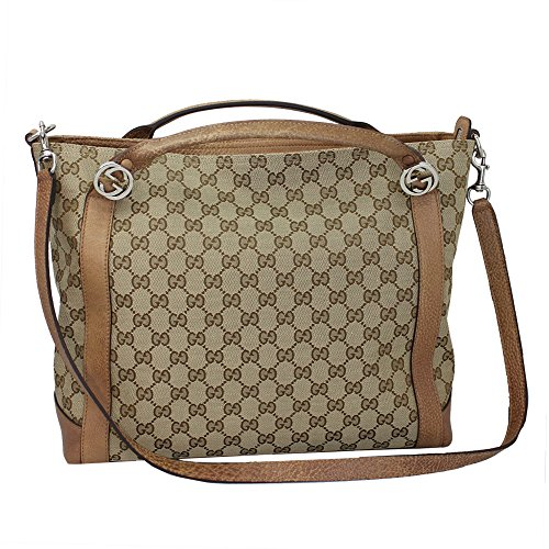 Gucci Brie Women's GG canvas Tote Bag W/shoulder strap 323675