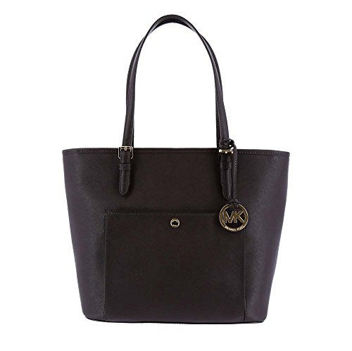 MICHAEL MICHAEL KORS Jet Set Large Saffiano Leather Tote Coffee