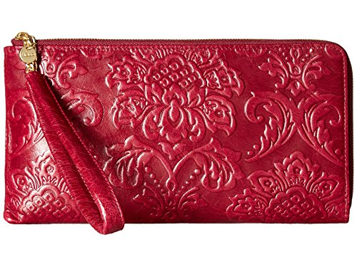 Hobo Handbags Damask Emboss Rylan Clutch – Red Plum