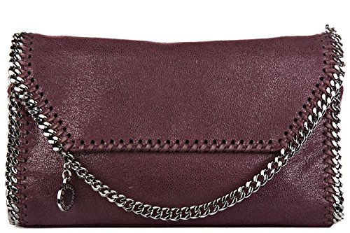 Stella Mccartney women's shoulder bag original mini shaggy deer purple