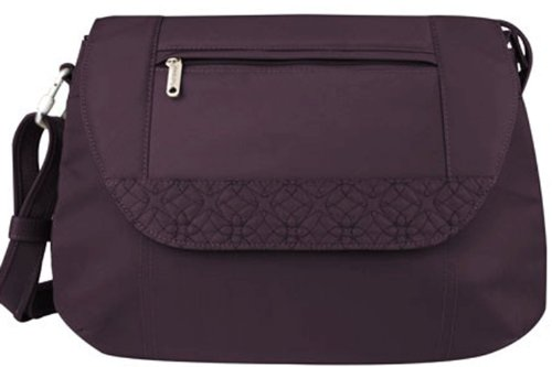 Travelon Anti-Theft Cross-Body With Stitching,One Size,Eggplant
