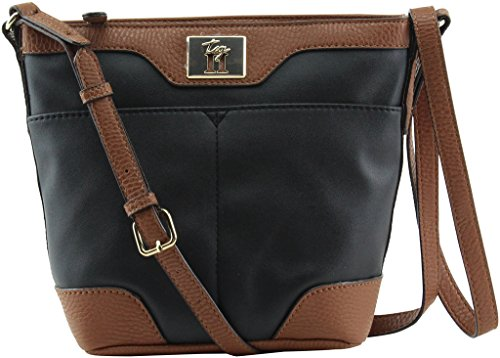 Tignanello Avery Mid Crossbody, Black