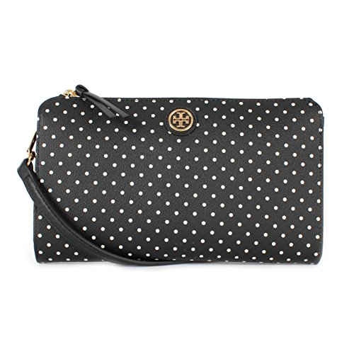 Tory Burch Kerrington Wallet Crossbody Viva Dot Mini Black