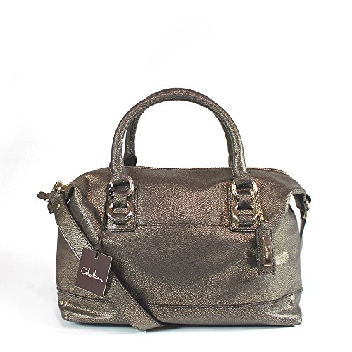 Cole Haan Waverly Archer Mini Satchel Bag, Dark Chocolate/Gold