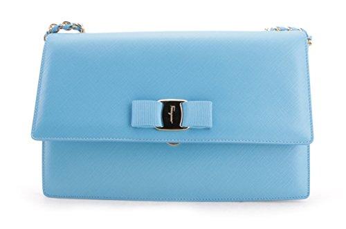 Salvatore Ferragamo Ginny Leather Clutch Handbag
