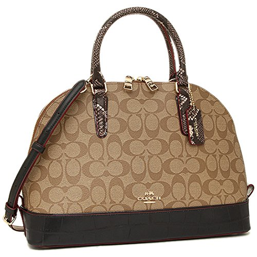 SIERRA SATCHEL IN SIGNATURE WITH EXOTIC MIX TRIM (COACH F38246)