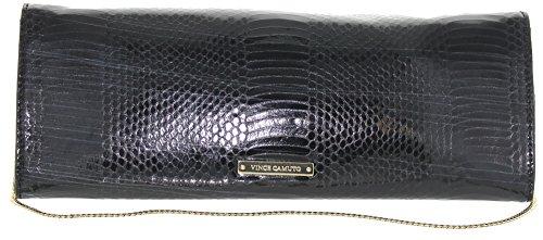 Vince Camuto Women's Jaden Clutch Black Snake