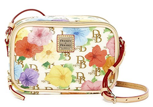 Dooney & Bourke Petunia Print Double Zip Sawyer Crossbody