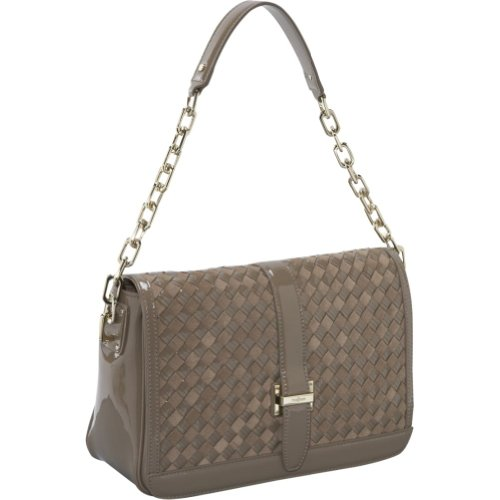 Cole Haan Heritage Weave Ava Shoulder Bag, Greige