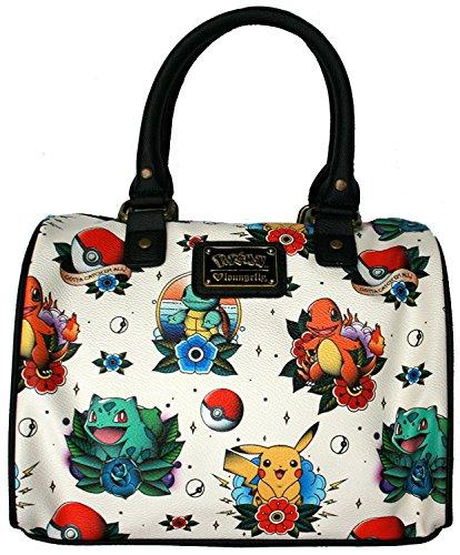 Loungefly Pokemon Go Pikachu Squirtle Bulbasaur Pokeball Shoulder Bag Purse