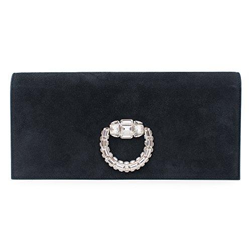 Gucci Lady Lock Black Evening Bag Swarovski Silver New Authentic