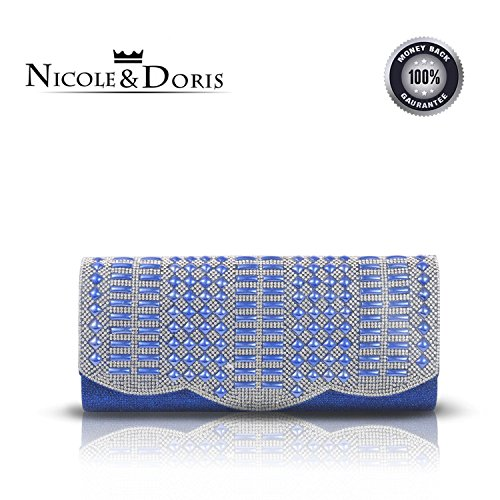 NICOLE&DORIS 2016 retro style ladies evening handbags women purse bride clutch bag wedding handbag