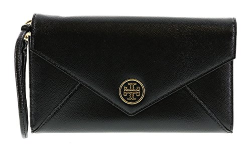 Tory Burch Robinson Envelope Wristlet in Black (001)