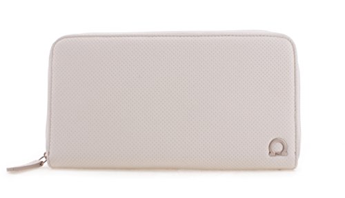 Salvatore Ferragamo Imprinted Mini Logo Ginny Leather Wristlet Wallet