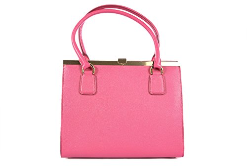 DOLCE&GABBANA women's leather shoulder bag original hobo fucsia