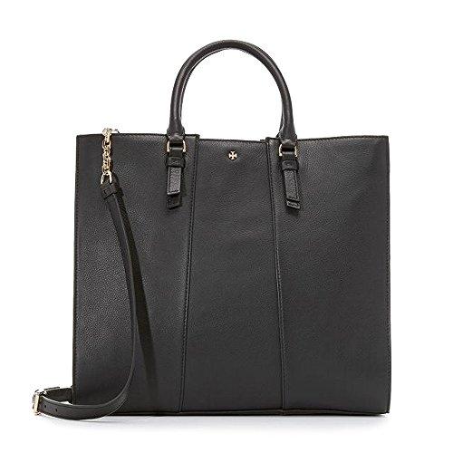 Tory Burch Cass Handbag Tote Bag Leather Black