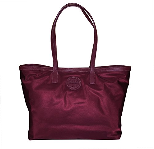 Tory Burch E/W nylon tote Deep Berry