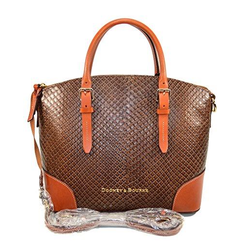 Dooney & Bourke Domed satchel Taupe Embossed Leather EA062