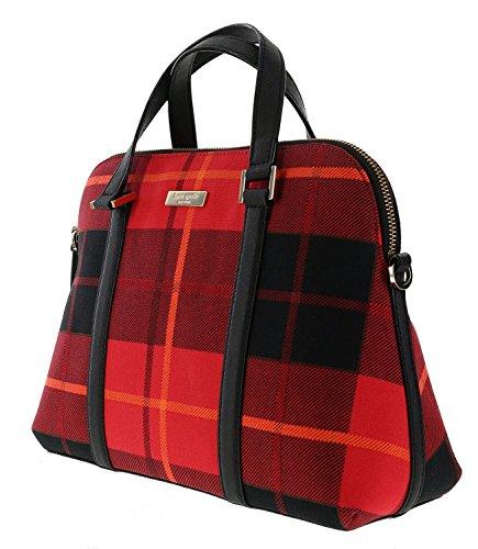 Kate Spade New York Newbury Lane Plaid Small Rachelle Convertible Handbag Plaid Red