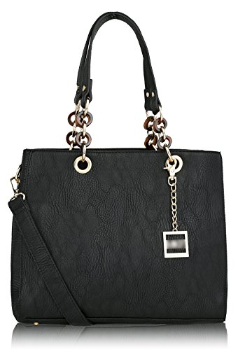 MKF Collection Fashion MAVEN~LADY's Signature Design Tote ~ New Fashion Women Handbag ~ Fashion Lady Purse Tote Handbag ~ Boutique Women's Designer Handbag ~ Fashion Designers Tote Handbag By MKF Collection, (Black)