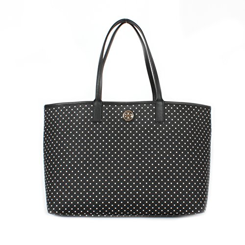 Tory Burch Kerrington Shopper Shoulder Bag Viva Dot Mini Black