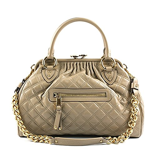 Marc Jacobs Classic Quilted Stam Satchel Bag, Clay