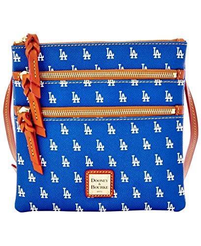 Dooney Bourke MLB Triple Zip Crossbody Dodgers Cross Body Handbags