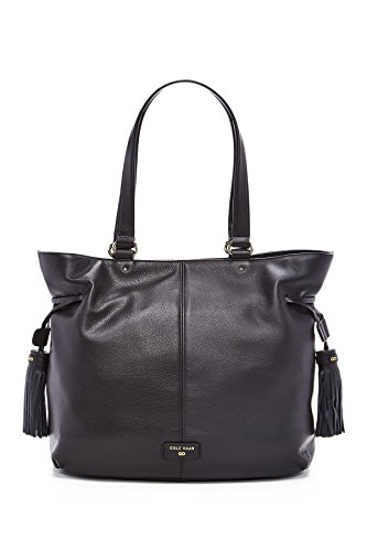 Cole Haan Anisa Leather Large Tote Shoulder Bag, Black
