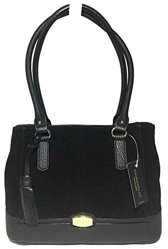 Tignanello Roebling Shopper, Leather/Suede Black, T59007A