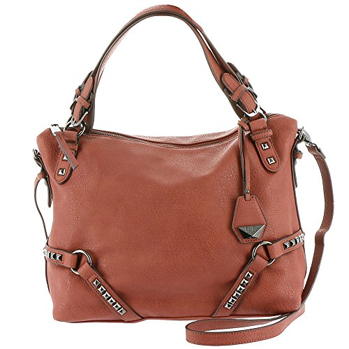 Jessica Simpson Kiara X-Body Satchel Brandy